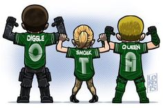 Lord mesa-art OTA - Original Team Arrow 4x03 - John Diggle, Felicity Smoak and Oliver Queen