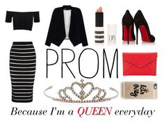 """""""Queen"""" by nicolegerrard ❤ liked on Polyvore featuring Balmain, American Apparel, Alice + Olivia, Topshop, Yves Saint Laurent, Christian Louboutin, Rebecca Minkoff, Casetify, Prom and queen"""