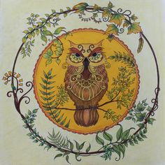 Take a peek at this great artwork on Johanna Basford's Colouring Gallery! Colouring, Adult Coloring, Coloring Books, Enchanted Forest Coloring Book, Johanna Basford Coloring Book, Owl Pictures, Owl Art, Mandala Art, Owls