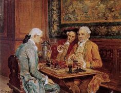 GRISON François Adolphe (1845 – 1914) The chess players.