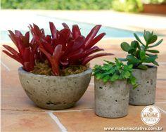 How to make cement vases Vase Arrangements, Vase Centerpieces, Vases Decor, Cement Pots, Concrete Planters, Art Bio, Vase Crafts, Diy Crafts, Clay Vase