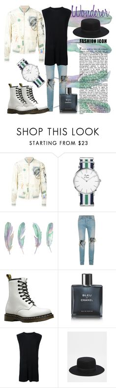 """""""Wonderer"""" by tristan-fraser ❤ liked on Polyvore featuring Alexander McQueen, Topman, Dr. Martens, Chanel, Homme Plissé Issey Miyake, ASOS, men's fashion and menswear"""