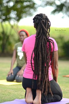 "sabriyasimonphotography: "" ""Sesh Pose"" ~ Kemetic Yoga Image taken of Kemetic Yoga Instructor, Latoya Thomas Bridgewater, teaching the ""Sesh Pose"" during the 'SOUL YOGA FEST' held at the Hope Botanical. Dreadlock Rasta, Dreadlocks, Hair Inspo, Hair Inspiration, Yoga Images, Dreads Styles, Natural Hair Styles, Long Hair Styles, Dreadlock Hairstyles"