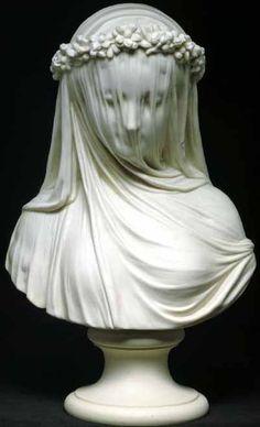 MONTI Raffaelo - Italian (1818-1881) ~ veiled lady