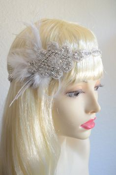 I've made this headpiece not only for Brides, but for Birthday Girls, Gatsby Event Parties. Its super glam. The 1920s headpieces don't have to look like a Costume, they should be Beautiful, Fun, sophisticated, Glam all wrapped up into one like my Style C011.