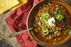 Vegetarian Lentil Taco Soup | Relishing It