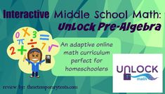 I am so excited to be sharing UnLock Math: Pre-Algebra today! A lot of homeschool parents get nervous about upper-level math. I think one of those reasons is that we ourselves did not do well in math, or we haven't used the concepts in our lives and so our skills are a bit rusty. The [...]