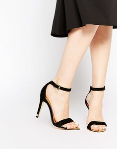 Ted Baker Juliennas Black Suede Barely There Heeled Sandals