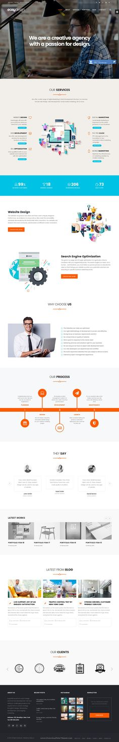 EasyWeb - WP Theme For Hosting, SEO and Web-design #Agencies Download Now #template