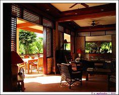 Hale Manna: So classic! So native interior! Asian Interior Design, Chinese Interior, Decor Interior Design, Interior And Exterior, Filipino Architecture, Philippine Architecture, Dream Home Design, House Design, Zen Interiors