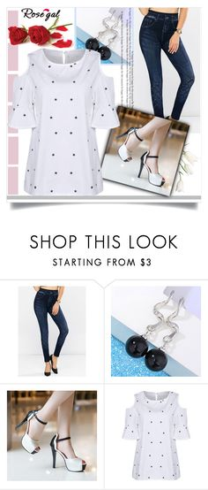"""""""Rosegal 40"""" by fashion-with-lela ❤ liked on Polyvore featuring amazing, sweet, girly and stars"""