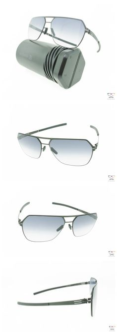 Other Unisex Eyewear 179246: Ic! Berlin Sunglasses Boris N Black Matt Metal Frames Black Clear Lenses -> BUY IT NOW ONLY: $369 on eBay!