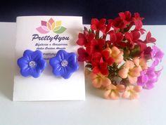 Brincos Flor em Polymer Clay - Pretty4You Bijuteria.