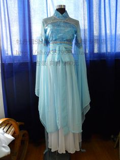 [牡丹园SH]古装COS汉服制作 水蓝色古装 向月 260元/套-淘宝网