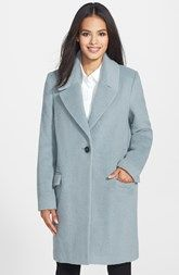 Elie Tahari 'Sicily' One-Button Wool Blend Notch Collar Coat