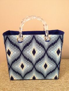 Most up-to-date Free of Charge bags material design Tips , , Hand-stitched Blue Bargello Diamond Needlepoint-style Bag Hengying Canvas Mini Cross Body Phone Bag Universal Mobile Phone Pouch Purse with Wrist Strap for Women Girls. Motifs Bargello, Broderie Bargello, Bargello Patterns, Bargello Needlepoint, Bargello Quilts, Plastic Canvas Stitches, Plastic Canvas Crafts, Plastic Canvas Patterns, Palacio Bargello
