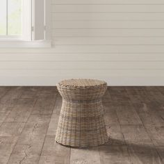 Birch Lane™ Heritage Rivera Rattan Drum End Table Wicker Side Table, Round Side Table, A Table, Rattan Coffee Table, End Tables With Storage, Nesting Tables, Traditional Furniture, Showcase Design, Birch Lane