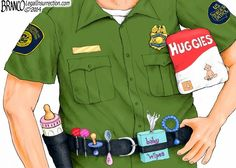 How can i make the Border patrol look Satirical ?