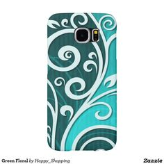 Green Floral Samsung Galaxy S6 Cases