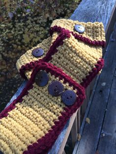 Minnesota Gopher Boot Cuffs with Buttons by crochetthisforme