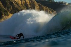 Rob Machado, digging deep on his 6'8'' Michel Junod single-fin on the North Peak at Blacks. Photo: Glaser