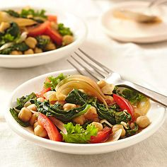 Sauteed Greens with Chickpeas