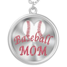 Cute Heart Shaped Baseball Silver Plated Baseball Necklaces for Moms. She will proudly wear this out and about and to the games showing off her support for her children's baseball. Baseball Stuff and more Custom and Personalized Baseball Gifts for Men, Women, Boys, Girls and Babies.  See ALL Baseball Stuff CLICK HERE: http://www.zazzle.com/littlelindapinda/gifts?cg=196556138924326857&rf=238147997806552929*/  ALL Gifts CLICK HERE: http://www.Zazzle.com/LittleLindaPinda*/