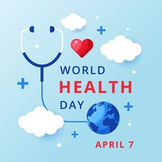 It's World Health Day! Today, we celebrate the work of Doctors & Nurse by showing our appreciation for their bravery, courage & resolve in the global response. Best Digital Marketing Company, Digital Marketing Strategy, World Health Day Theme, World Cancer Day, Doctors Day, World Days, Graphic Design Templates, Day Wishes, Magazine Template
