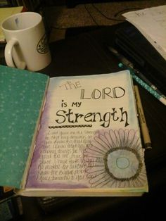 First entry in in my art/prayer journal. Was a unexpected entry but i needed the reminder