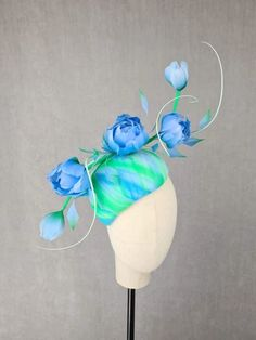MBM2317 – Millinery By Mel Leather Design, Green Leather, All Design, Creative