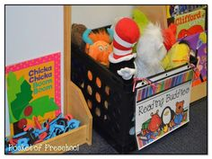 Cute and quick editable crate labels for your classroom!  Make clean up time easy for students.  Pocket of PreschoolLabel