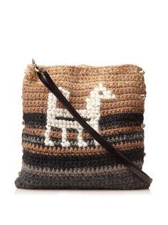 60% OFF Lorenza Gandaglia Women\'s Cervinia Camel Crochet Tote, Camel