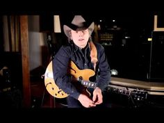 """Legendary Dwight Yoakam and his Epiphone Elitist Dwight Yoakam """"Dwight Trash"""" Casino Signature Guitar    Guitars, Cadillacs, and Casinos!  http://www2.gibson.com/Products/Electric-Guitars/Archtop/Epiphone/Elitist-Dwight-Yoakam-Dwight-Trash-Casino.aspx"""