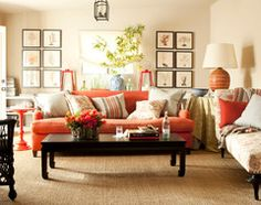 Paint Color To Compliment Orange Couch C Living Rooms Room