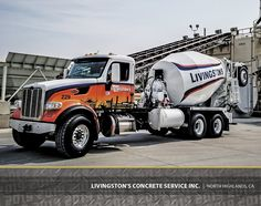Con-Tech Mixers outperform & outwork any concrete truck manufacturer in the area. See how our high-quality concrete mixers & parts keep your fleet running! Types Of Concrete, Oil Platform, Mixer Truck, Oil Tanker, Concrete Mixers, Peterbilt, Livingston, Heavy Equipment, Old Trucks