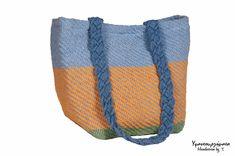 FREE SHIPPINGSummer HandbagCotton tote by HandwovenByT on Etsy