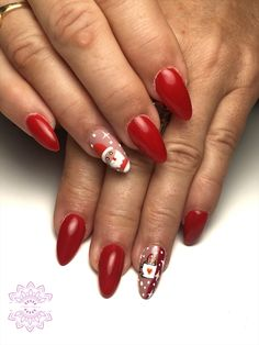 Red Christmas, Christmas Nails, Red Nails, Magic Party, Finger Nails, Colors, Christmas Manicure, Red Toenails, Red Nail