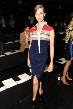 Elettra Wiedemann Front Row at Prabal Gurung