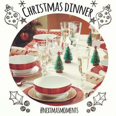 Preparing the menu for the Christmas dinner party