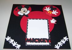 Hey guys, just a quick basic Disney layout with Mickey Mouse. used the cricut Mickey carts for this one. Album Scrapbook, Disney Scrapbook Pages, Scrapbook Sketches, Scrapbook Page Layouts, Scrapbooking Ideas, Scrapbook Background, Baby Scrapbook, Travel Scrapbook, Disney Cards