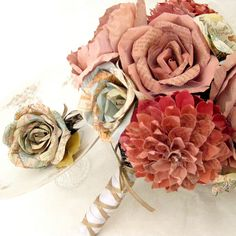 Paper Bouquet. I like the mix of roses with other flowers