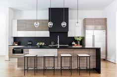 Marie Flanigan Interiors Houston Texas Home Design Black Wood Contemporary Kitchen