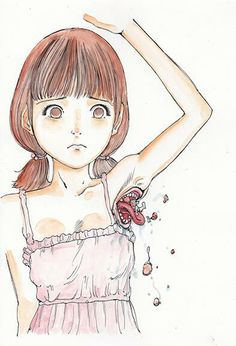 Shintaro Kago Arte Horror, Horror Art, Creepy Art, Creepy Dolls, Art Sinistre, Scary Dreams, Ero Guro, Art Mignon, Surreal Artwork