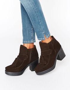 Image 1 ofASOS REX Suede Tassel Ankle Boots