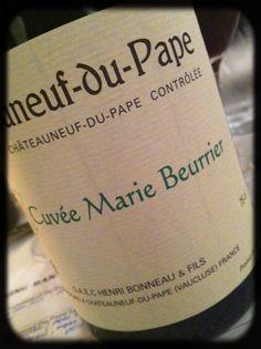 2006 Domaine Henri Bonneau, Cuvée Marie Beurrier, Châteauneuf du Pape, Rhône, Frankrig Chateauneuf Du Pape, Henri, France, Rhone, Marie, Cheese, Drinks, Bottle, Butter Dish