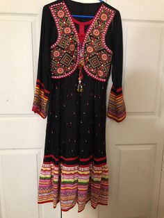 Long dress Indian like new hand embroidery. Hand Embroidery, Kimono Top, Indian, Tops, Dresses, Women, Products, Fashion, Vestidos