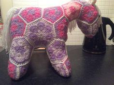 African flower crochet pony