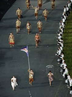 2012 Olympic Games - Opening Ceremony. American Samoa