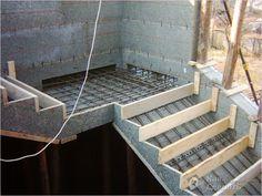 Het maken van trap bekisting