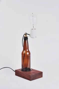 The beer lamp | Handcrafted and manly, for those who drink (or don't!) Haha.